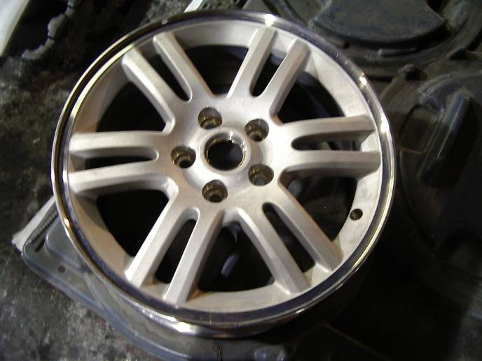 Aluminum Wheel Stripping / How To:  Strip Aluminum Wheels, Image of: Aluminum Wheel Stripped in MILES #8648.